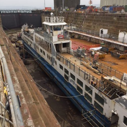 Ferry Refit – Tamar II – April 2019 – Updated 24th April 2019
