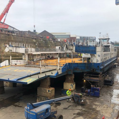Ferry Refit – Tamar II – April 2019 – Updated 16th April 2019