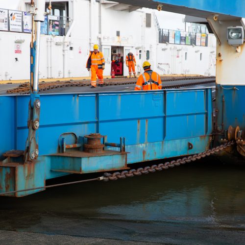 Torpoint Ferry – Preparations well underway for refit of Torpoint ferry