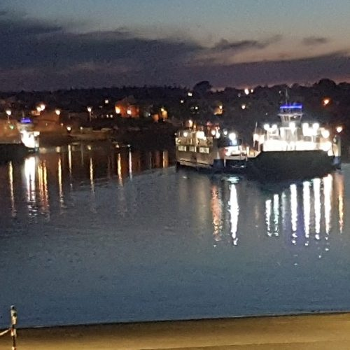 Lighting up the Tamar Bridge and Torpoint Ferry