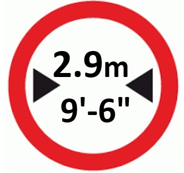 Width Sign
